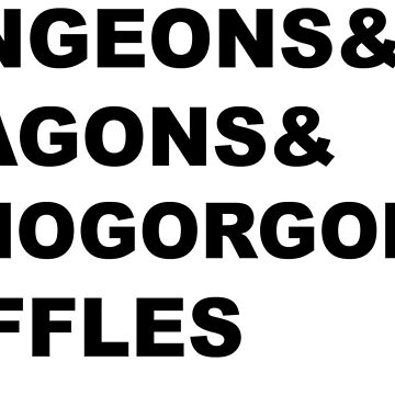Dungeons and Dragons and Demogorgons and Waffles by zombiemama