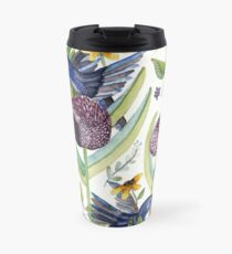 exotic garden and  hummingbirds Travel Mug