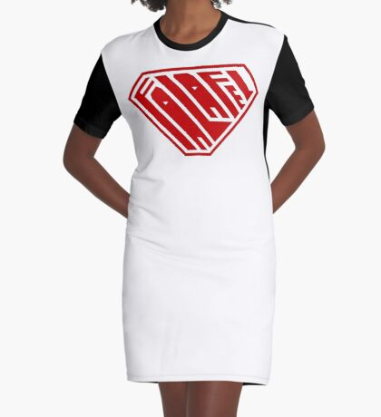 Falafel SuperEmpowered (Red) Graphic T-Shirt Dress