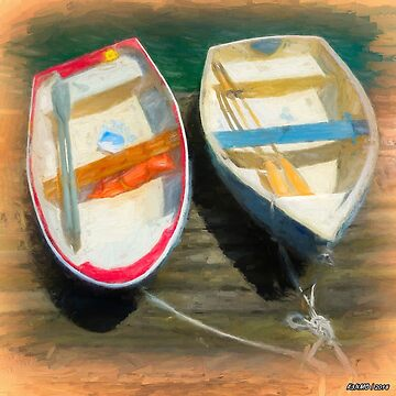 Boats Tied on the Landing by kenmo