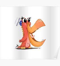 Monster Character - Letter K Poster