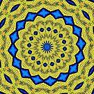 Peacock Feathers Mandala Kaleidoscope Abstract 1 by Artist4God