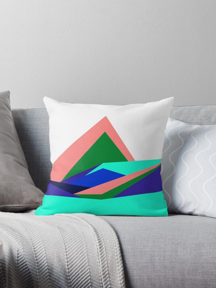 Pink Hills, Generative Art, Data Visualisation by Cathal Lindsay