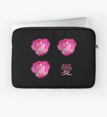 Rose 愛 Love (Ai) Laptop Sleeve