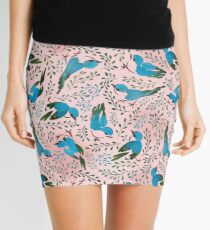 Birds in spring Mini Skirt