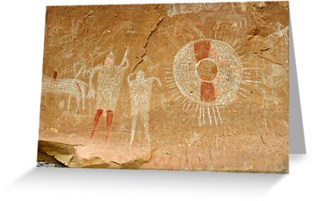Ute Indian Pictographs by David Lee Thompson