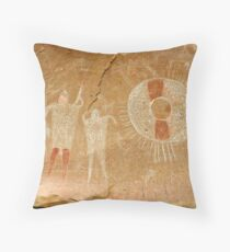 Ute Indian Pictographs Throw Pillow