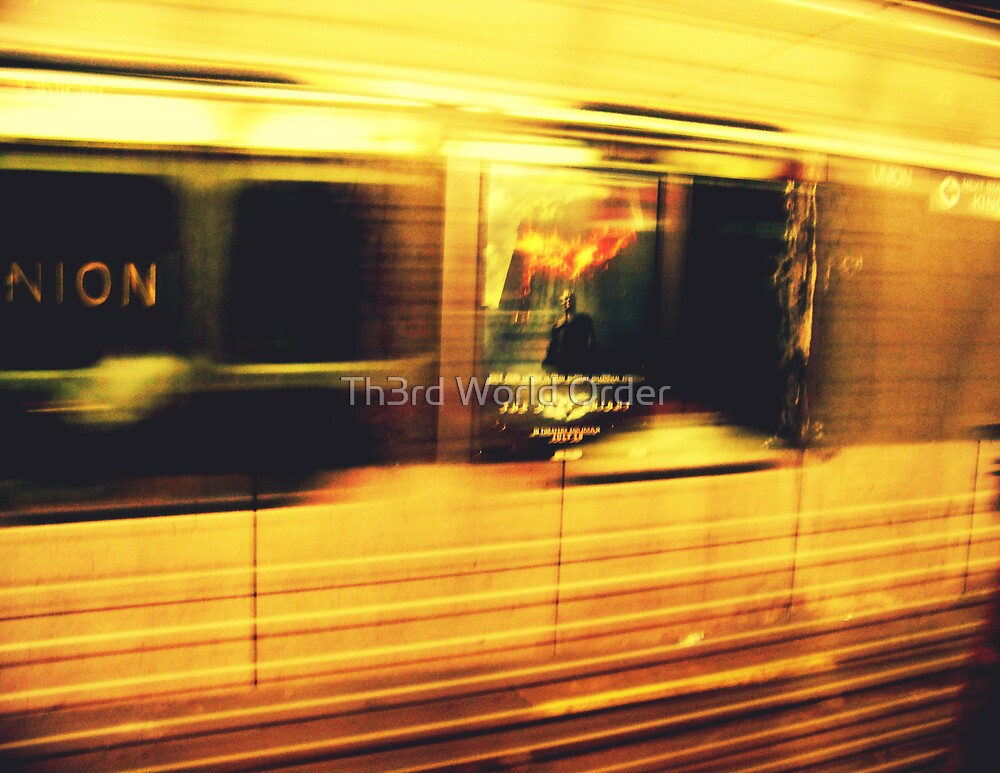 Life is not like waiting for the subway, if you miss one another won't be coming soon by Th3rd World Order
