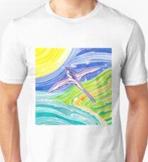 Frigate bird and morning sun over Oahu, Hawaii Unisex T-Shirt