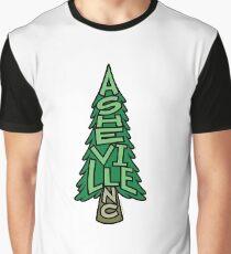 Asheville North Carolina Pine Tree Graphic T-Shirt