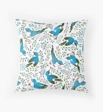 Birds in summer Throw Pillow