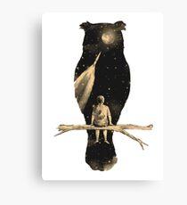 Owl Silhouette  Canvas Print