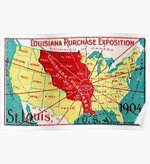 1904 Louisiana Kauf Ausstellung Poster