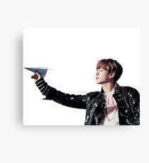 JungKook Paper Airplane Canvas Print