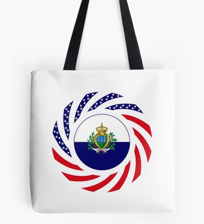 San Marino American Multinational Patriot Flag Series Tote Bag