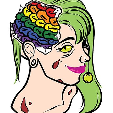 PRIDE MONSTERS- Zombie, LGBT Pride Flag by JMTolman