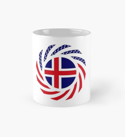 Icelandic American Multinational Patriot Flag Series Mug