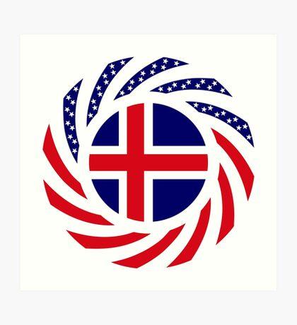 Icelandic American Multinational Patriot Flag Series Art Print
