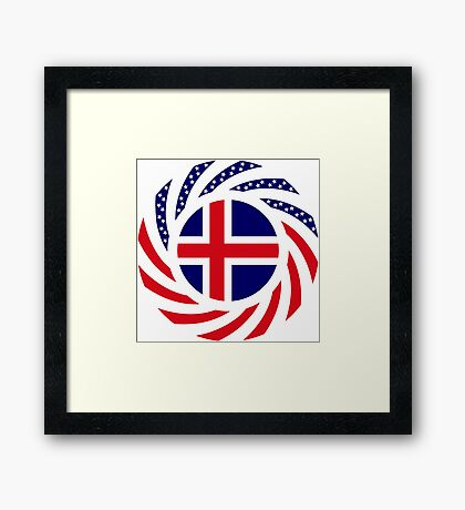 Icelandic American Multinational Patriot Flag Series Framed Print