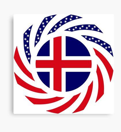 Icelandic American Multinational Patriot Flag Series Canvas Print