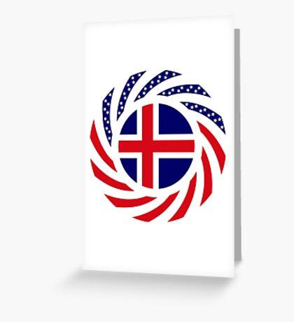 Icelandic American Multinational Patriot Flag Series Greeting Card