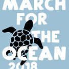 March for the Ocean Unisex T-shirt for Surfers Swimmers Kayakers Sailors by transferarts