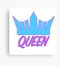 Crown and Queen Canvas Print