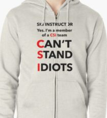 SKI INSTRUCTOR Zipped Hoodie