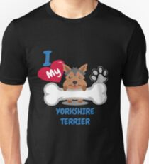 Yorkshire Terrier - I Love My Yorkshire Terrier Gift Unisex T-Shirt
