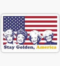 Pegatina Quédate dorado, america