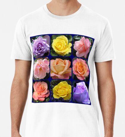 Neun Rosen Collage Premium T-Shirt