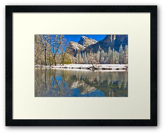 Winter Reflection Yosemite by photosbyflood