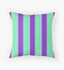 Blueberry and Mint Green Wide Cabana Tent Stripe Floor Pillow