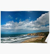 Coastal Headlands San Gregorio Poster