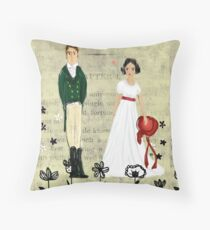 Mister Darcy and Miss Bennet Throw Pillow