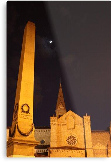 la luna sopra la chiesca e obelisco by lsmith77