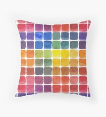 Mix it Up! - Watercolor Mixing Chart Throw Pillow