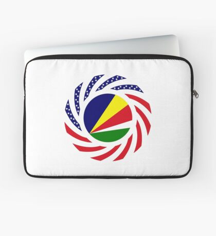 Seychellois American Multinational Patriot Flag Series Laptop Sleeve