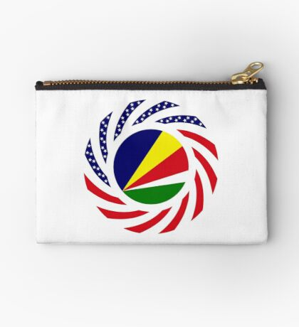 Seychellois American Multinational Patriot Flag Series Zipper Pouch