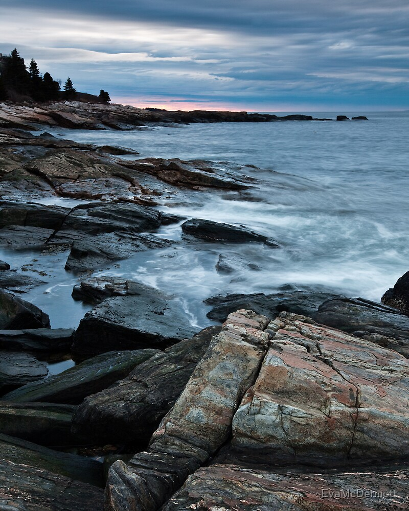 Ocean Point Cloudy Sunrise by EvaMcDermott