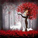 Magical Heart Tree Forest for Spirit Animals by jitterfly