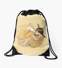 Catori Sleeps Like a Fox Drawstring Bag