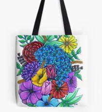 Floral Exuberance Tote Bag
