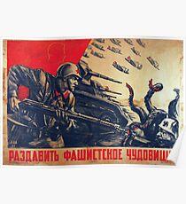 Zerstöre das faschistische Monster! Poster