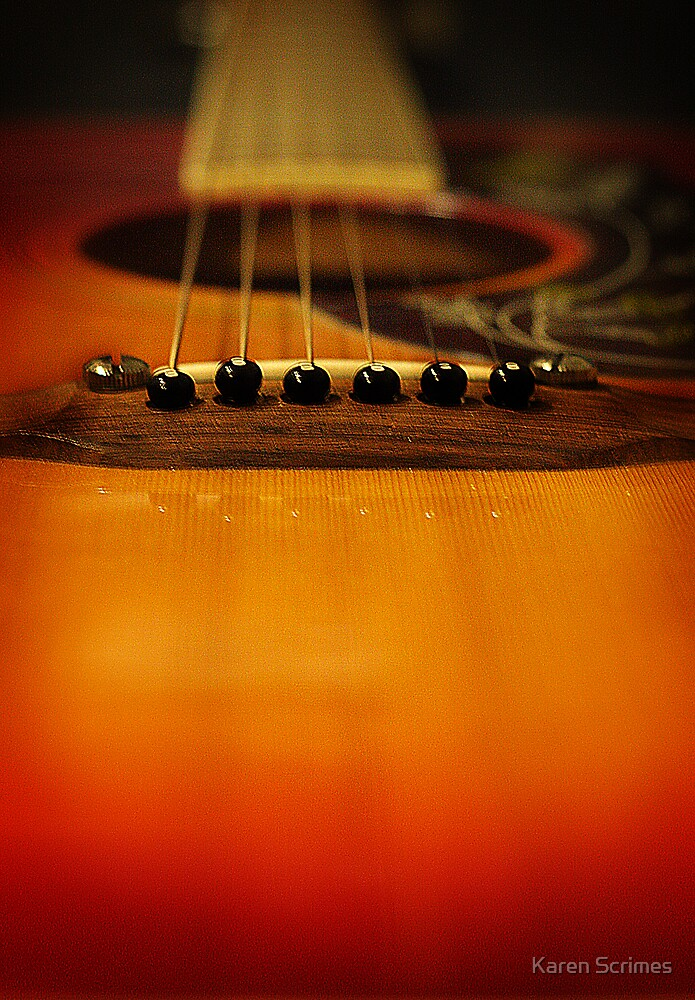 My old 6 string by Karen Scrimes