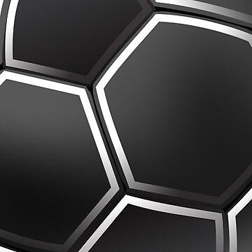 Black Football Ball iPhone Case  / Samsung Galaxy Case by CroDesign