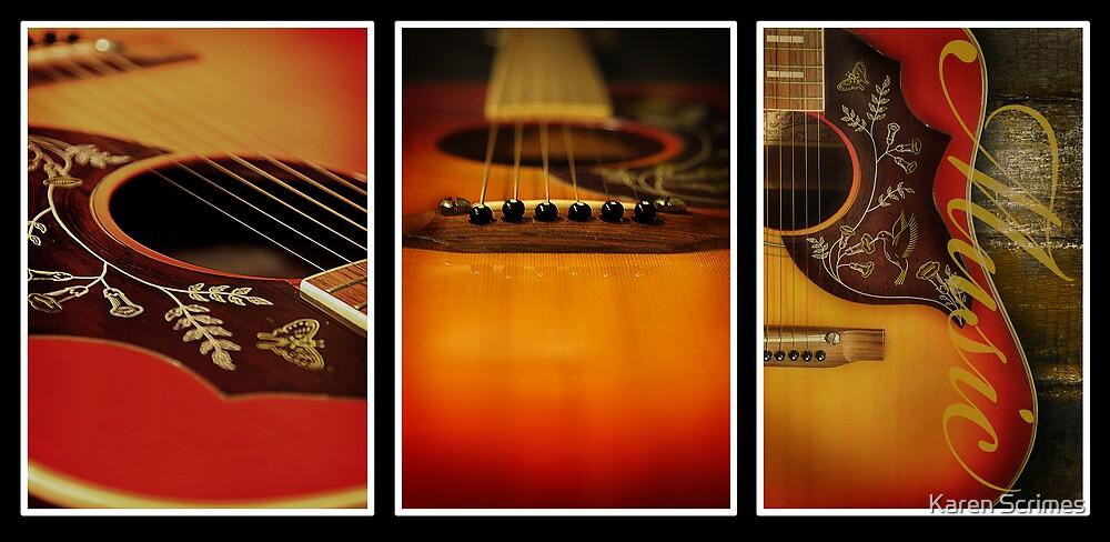 Guitar Triptych by Karen Scrimes