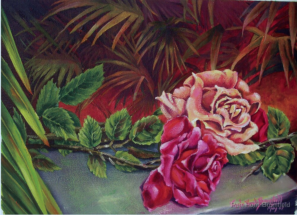 Roses for my Friend by Pam Hunt-Bromfield