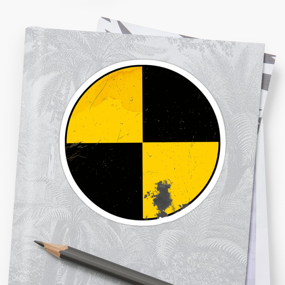 Crash Test Dummy Sticker Stickers By Pix El Art Redbubble