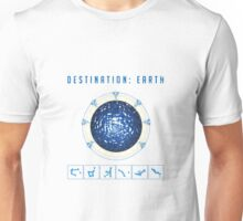 Earth destination gate Unisex T-Shirt